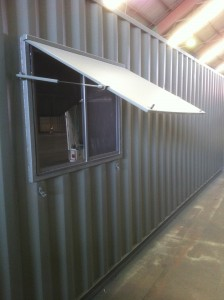 40ft Container with added window which can be locked.